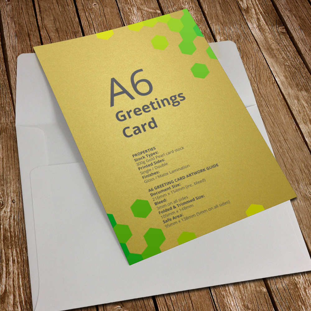 Greetings Card Printing Gold Birmingham Alhambra Media